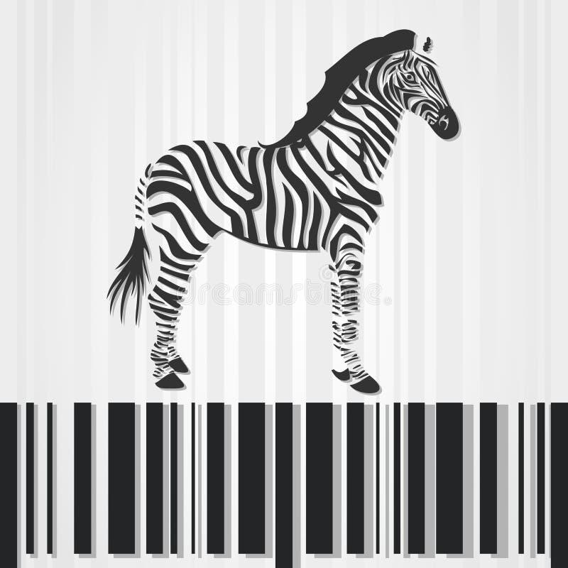 Download Zebra stock vector. Illustration of rearing, black, strip - 20241180