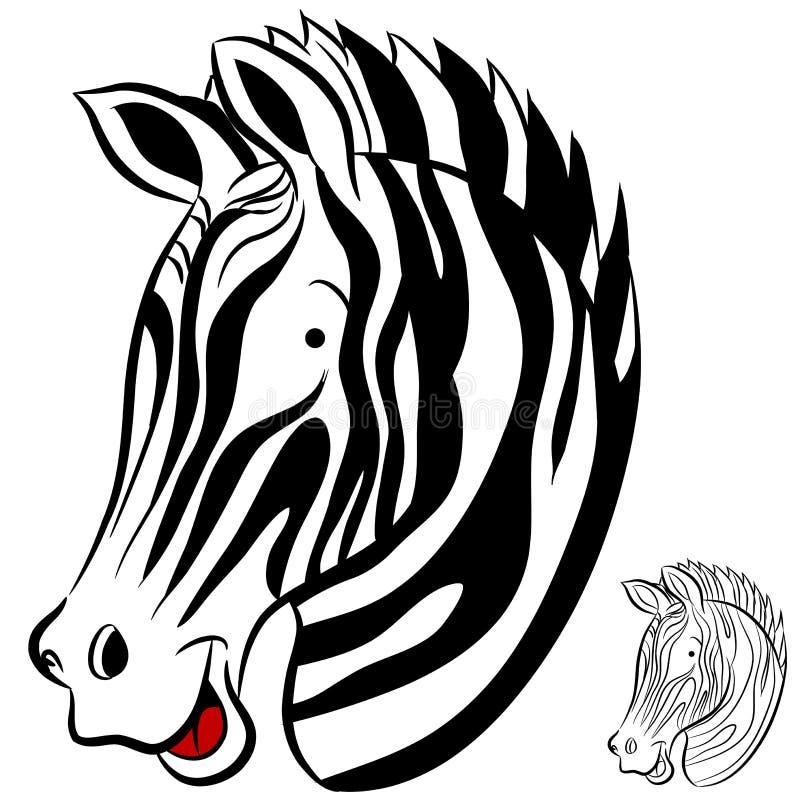 Download Zebra stock vector. Image of stripes, wild, graphic, white - 22696503