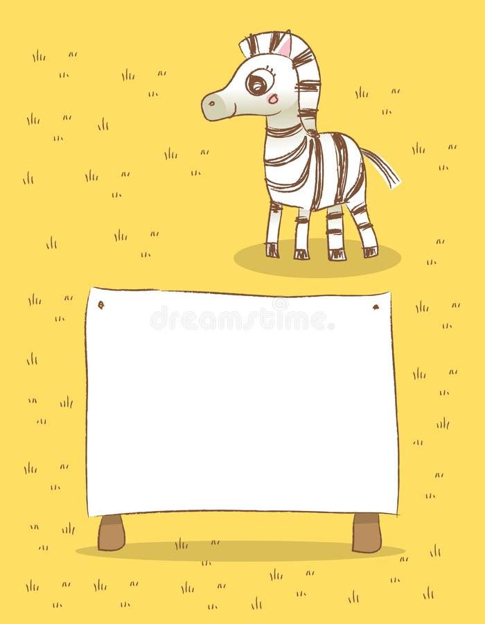 Zebra ilustração do vetor