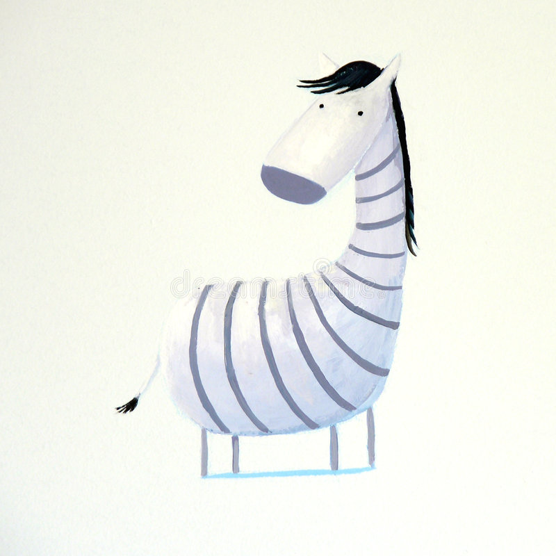 Zebra abstrata do bebê ilustração stock