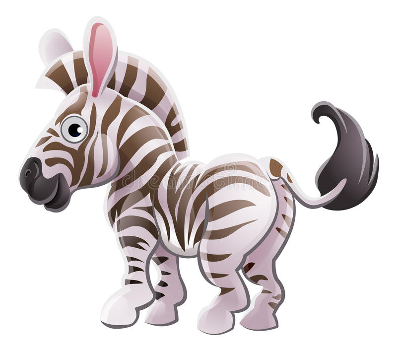Zebra Animal Cartoon Character royalty free illustration