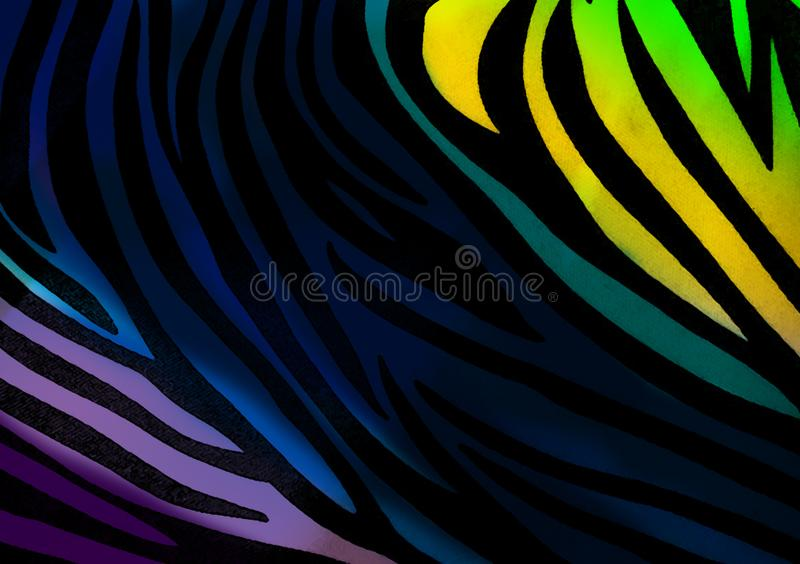 Zebra animal print wallpaper background. Also for use as design layout with text and images royalty free illustration