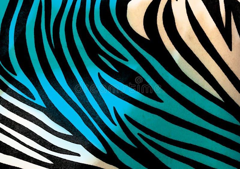 Zebra animal print wallpaper background stock illustration