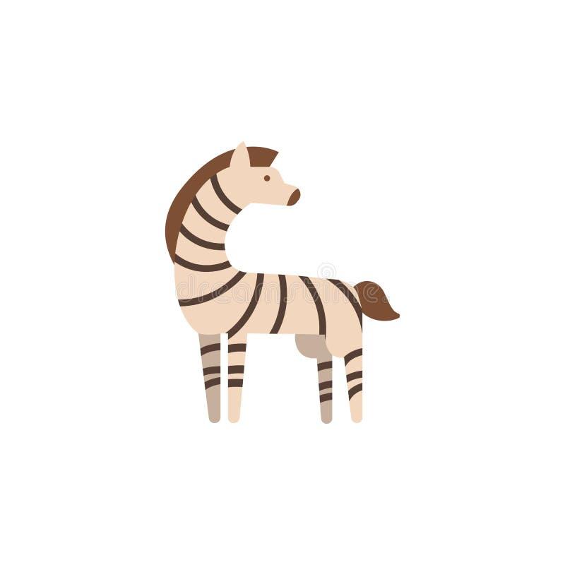 Zebra, animal, zoo icon. Element of color African safari icon. Premium quality graphic design icon. Signs and symbols collection. Icon for websites, web design stock illustration
