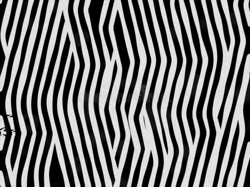 Zebra animale di struttura della pelliccia illustrazione vettoriale