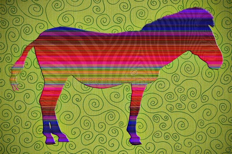 Zebra Artsy illustrazione vettoriale