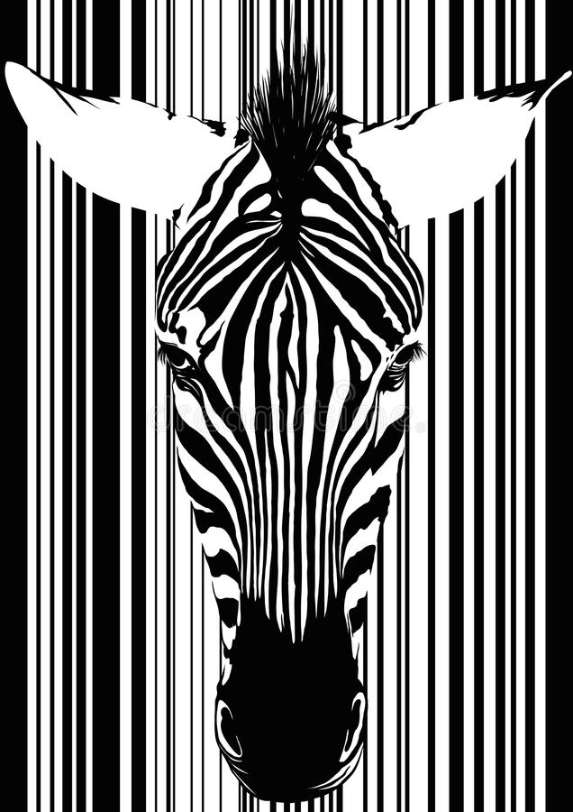 Zebra as barcode stock vector  Illustration of stripes