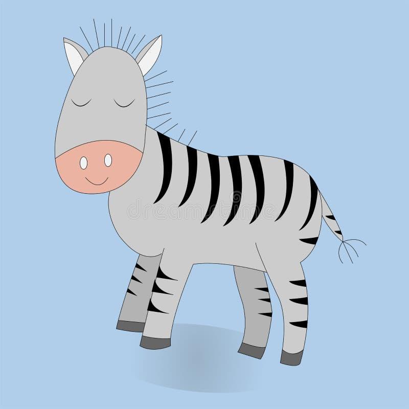 Zebra bonito dos desenhos animados ilustração da cópia do vetor ilustração royalty free