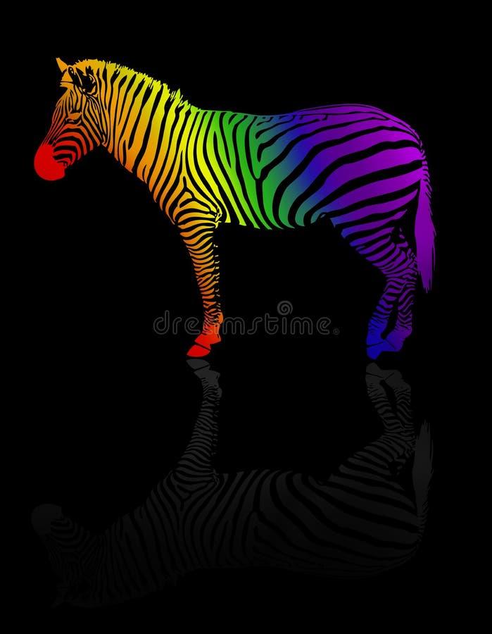 Zebra colorida ilustração stock