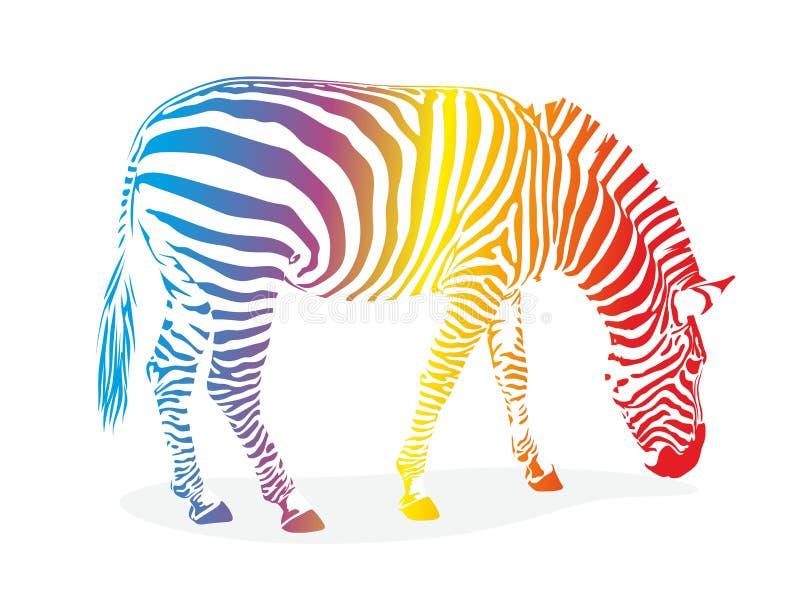 Zebra com listras ilustração stock