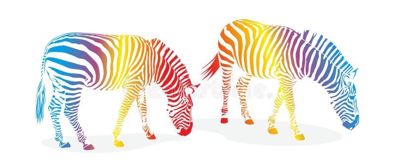 Zebra com listras ilustração do vetor