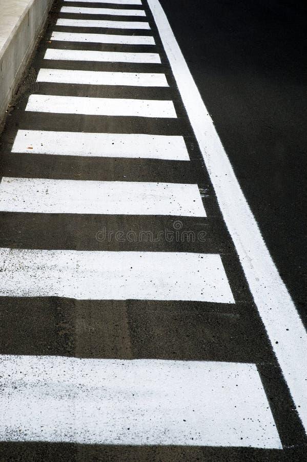 Zebra crossing. Pedestrian crossing in a urban street stock image