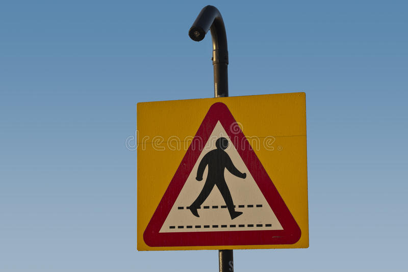 Download Zebra crossing ahead stock photo. Image of sign, zebra - 27494024