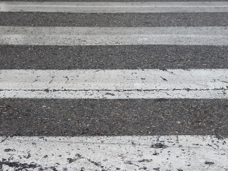 Zebra crossing sign. Warning signs, zebra crossing traffic sign on a street stock photography