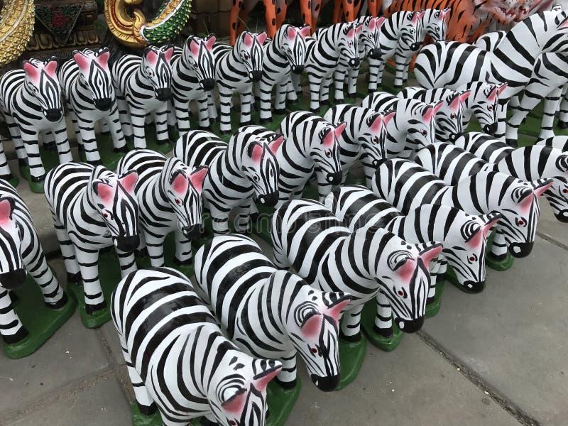 Zebra dello stucco della bambola fotografia stock