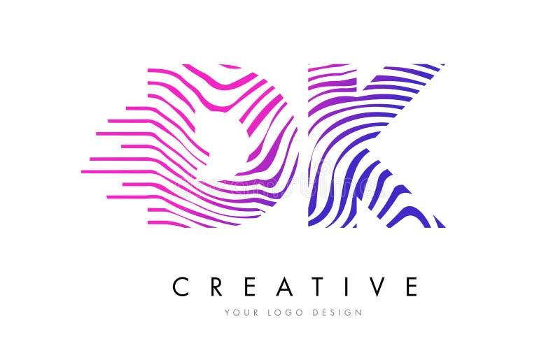 Zebra DK D K Zeichnet Buchstaben Logo Design Mit Magentaroten Farben ...