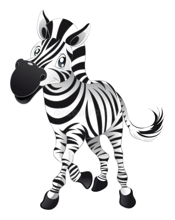 Zebra do bebê ilustração do vetor
