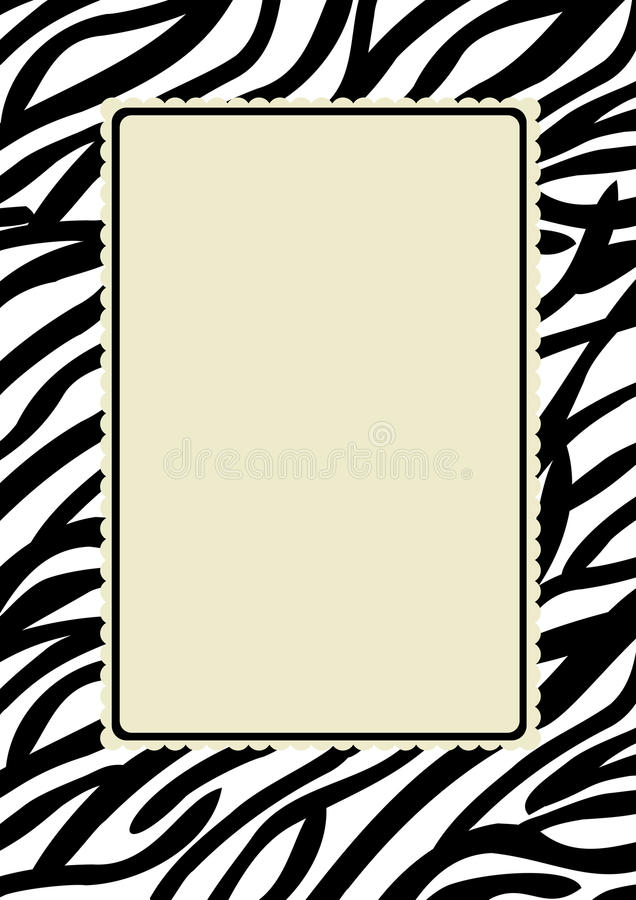 Zebra-Druck-Feld vektor abbildung