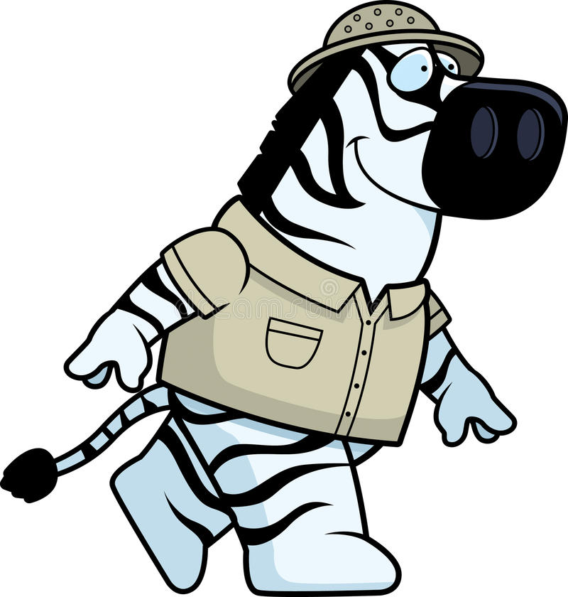 Download Zebra Explorer Walking stock vector. Illustration of cartoon - 11301673
