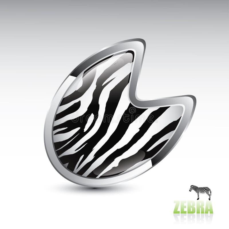 Download Zebra Footprint Button Stock Photos - Image: 26956383