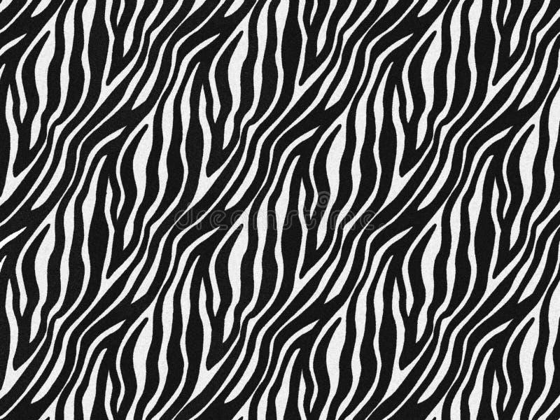 Zebra fur skin seamless pattern, carpet zebra hairy background, black and white texture, smooth, fluffly and soft. Zebra fur skin seamless pattern, carpet zebra vector illustration