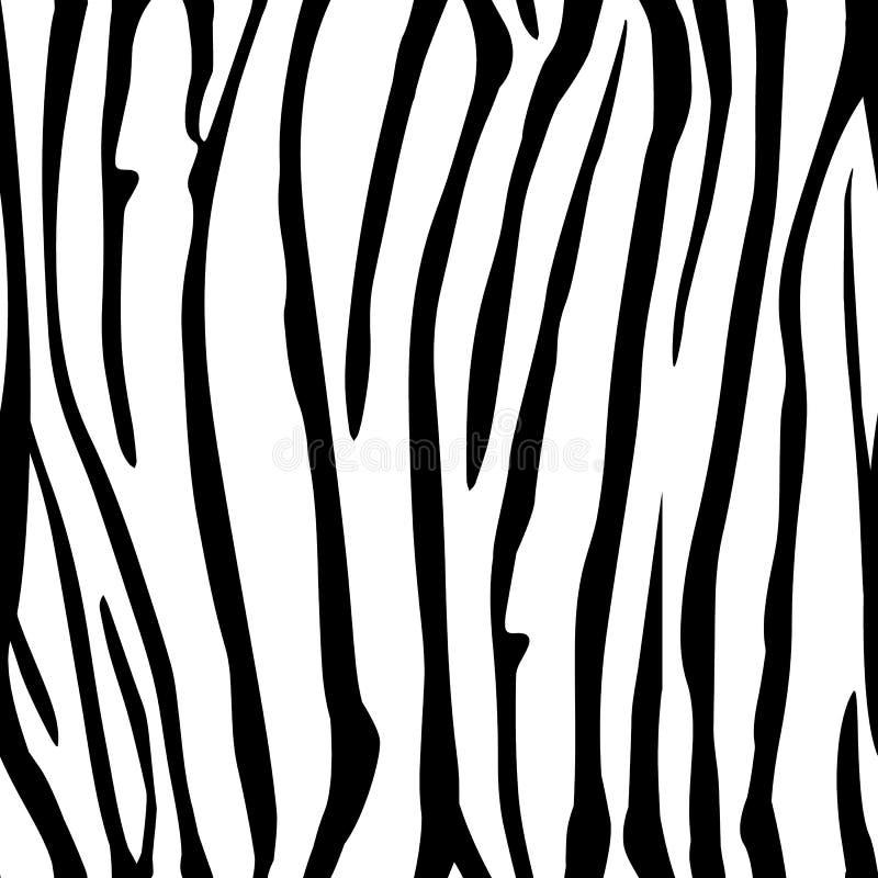 A zebra listra o teste padrão sem emenda Cópia da zebra, pele animal, listras do tigre, teste padrão abstrato, linha fundo, tela  ilustração stock