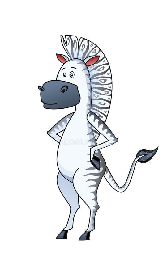 Zebra no estilo africano foto de stock royalty free
