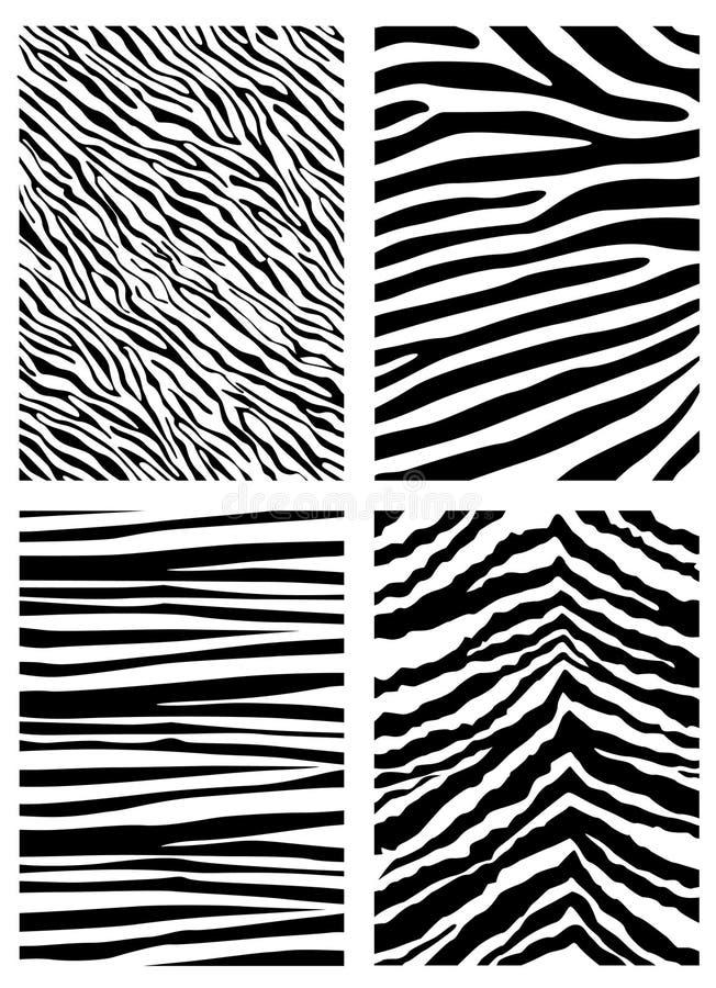 zebra nosicieli wzoru ilustracja wektor