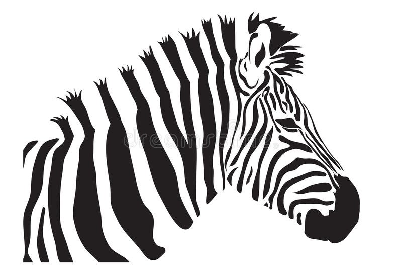 Download Zebra  outline silhouette stock illustration. Image of paint - 27178741