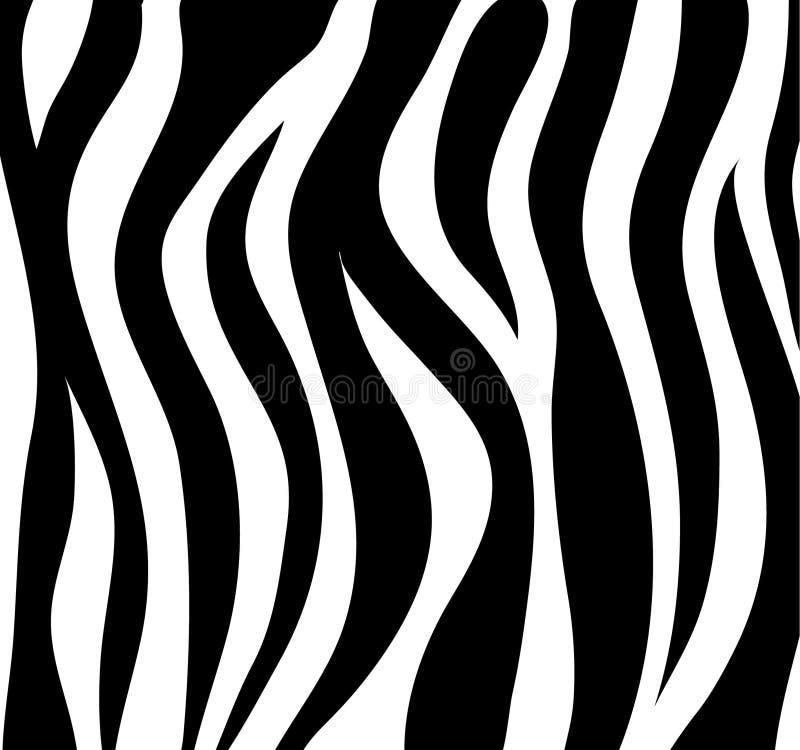 Zebra paskuje czarny i biały abstrakcjonistycznego tło jako skóra Vecto royalty ilustracja