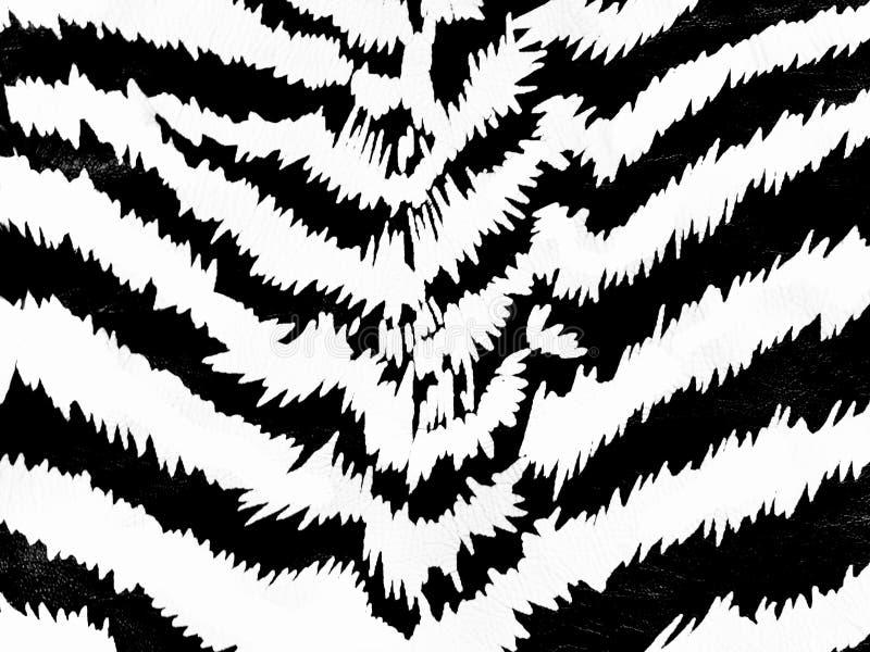 Zebra pattern. Zebra skin pattern on the leather background stock photography