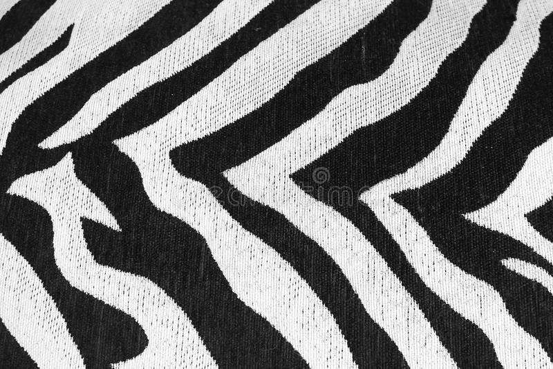 Zebra pattern. A closed up pattern details of zebra texture. Zebra pattern. A closed up pattern details of zebra texture of an old sofa. Texture and background stock images
