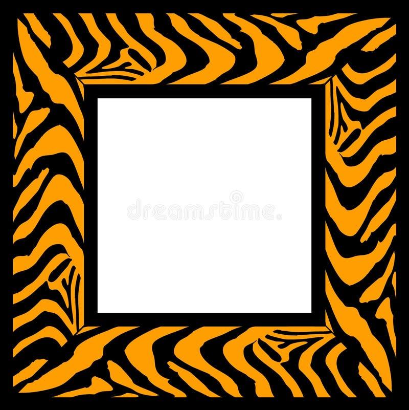 Zebra pattern frame stock illustration