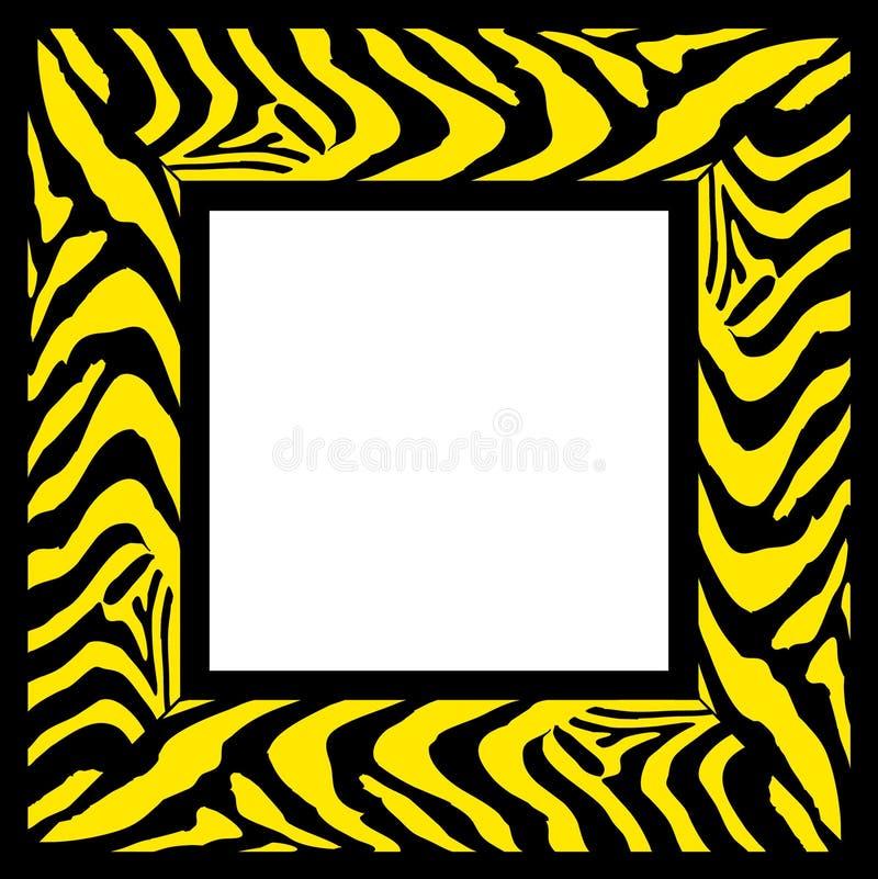 Zebra pattern frame border vector illustration
