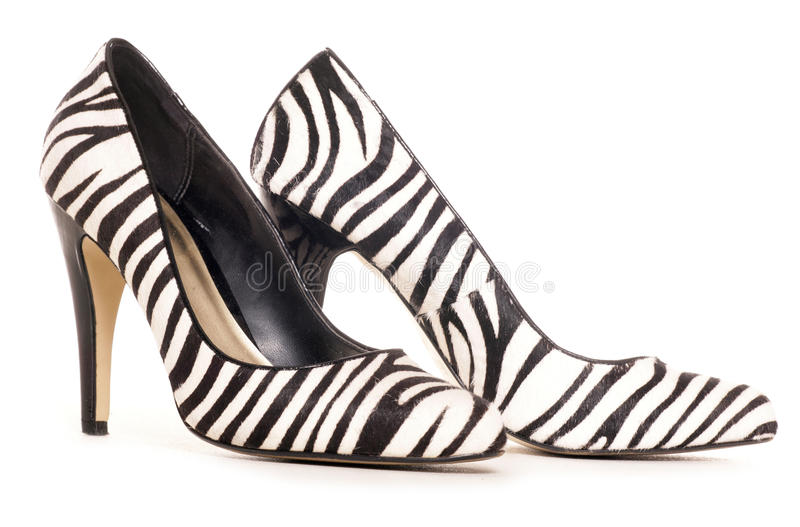 Download Zebra Pattern High Heel Shoes Cut Out Stock Image - Image: 30728729