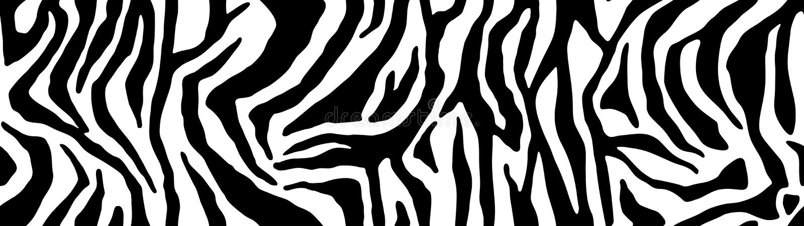 Zebra pattern, stylish stripes texture. Animal natural print. For the design of wallpaper, textile, cover. Vector seamless backgro. Zebra pattern, stylish royalty free illustration
