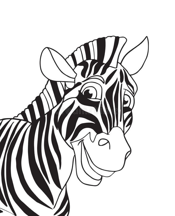 Download Zebra portrait stock illustration. Image of africa, drawing - 66581379