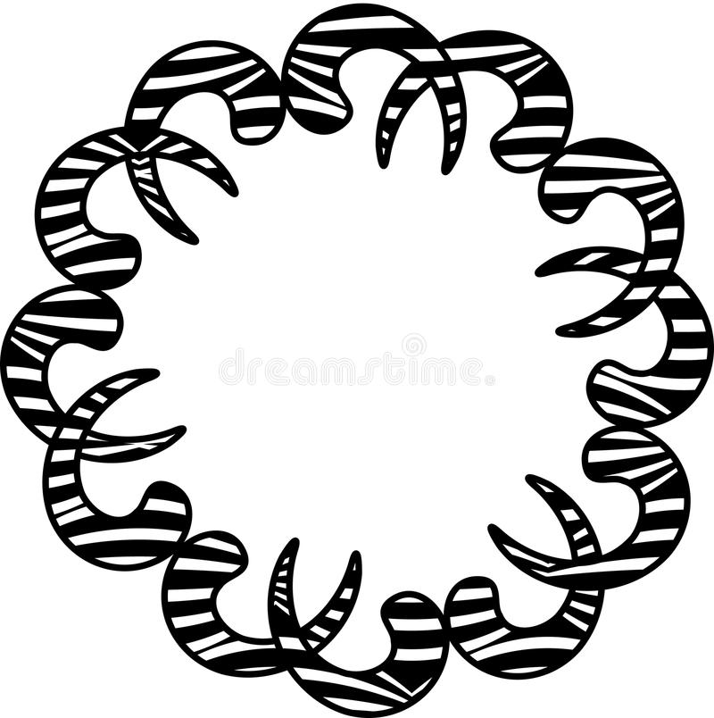 Zebra Print Background stock illustration