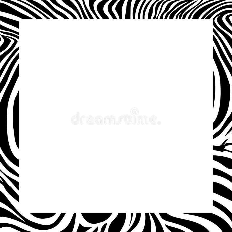 zebra print border frame design stock vector illustration of rh dreamstime com seamless zebra pattern vector animal pattern vector free download