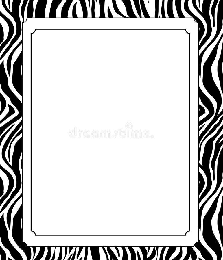 Zebra print border .Greeting card with zebra skin pattern. vector illustration