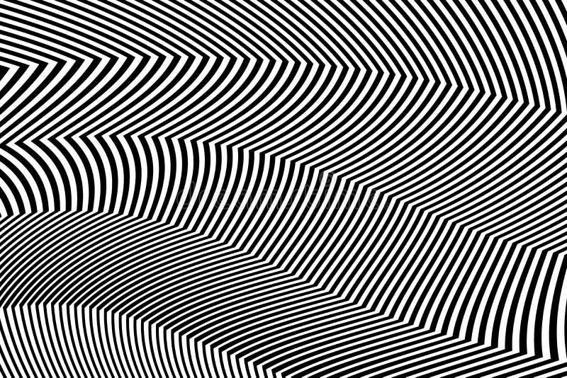 Zebra projekta Czarny I Biały lampasy Wektorowi royalty ilustracja