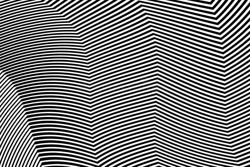 Zebra projekta Czarny I Biały lampasy Wektorowi ilustracja wektor