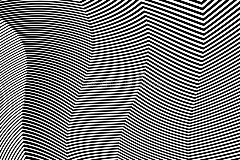 Zebra projekta Czarny I Biały lampasy Wektorowi ilustracji