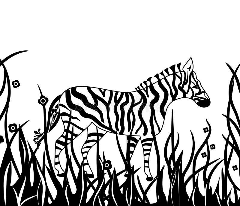 Download Zebra in safari stock vector. Illustration of zebra, animal - 18476119