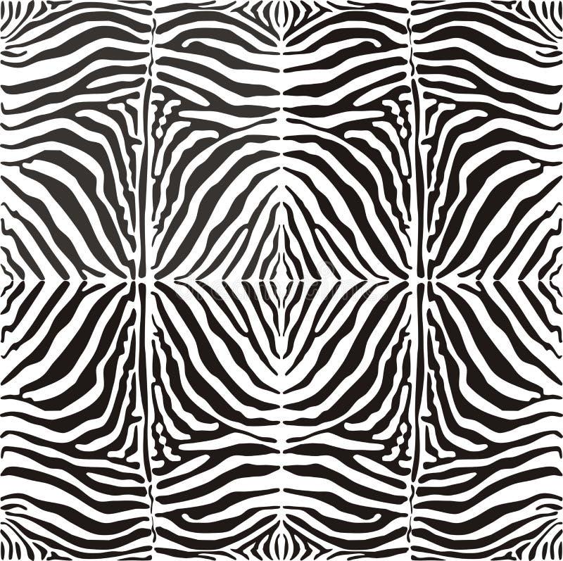 Zebra sem emenda da pele do fundo, illustratio do vetor ilustração stock