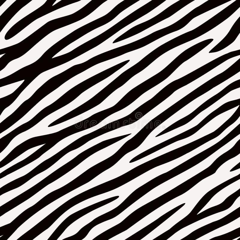 Zebra sem emenda do teste padrão Cores preto e branco ilustração royalty free