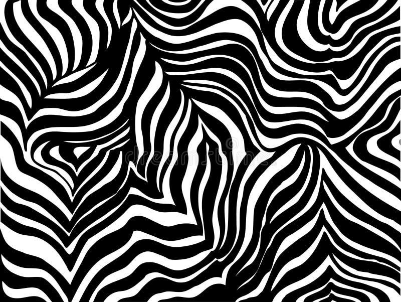 Zebra stripe background stock illustration