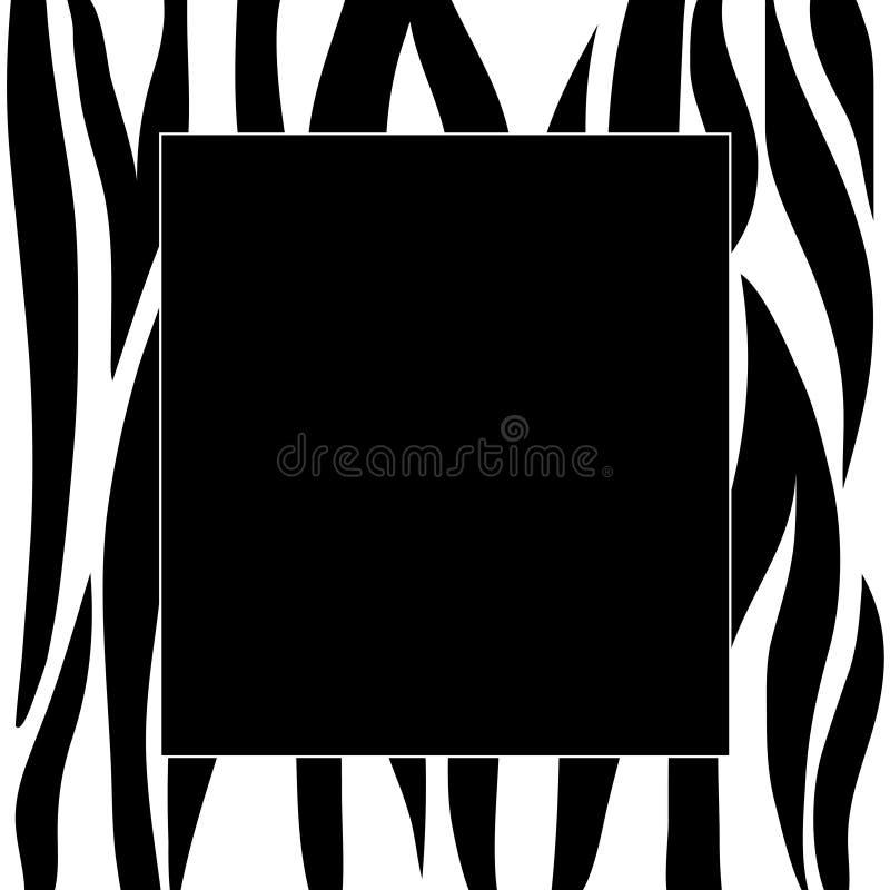 Zebra stripes frame royalty free illustration