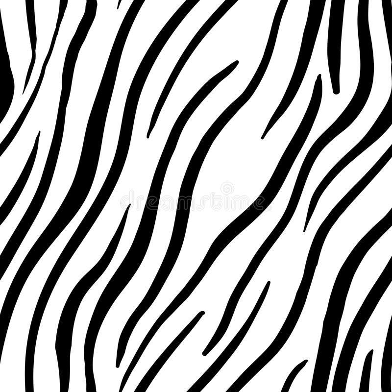 Zebra Stripes Seamless Pattern. Print design stock illustration