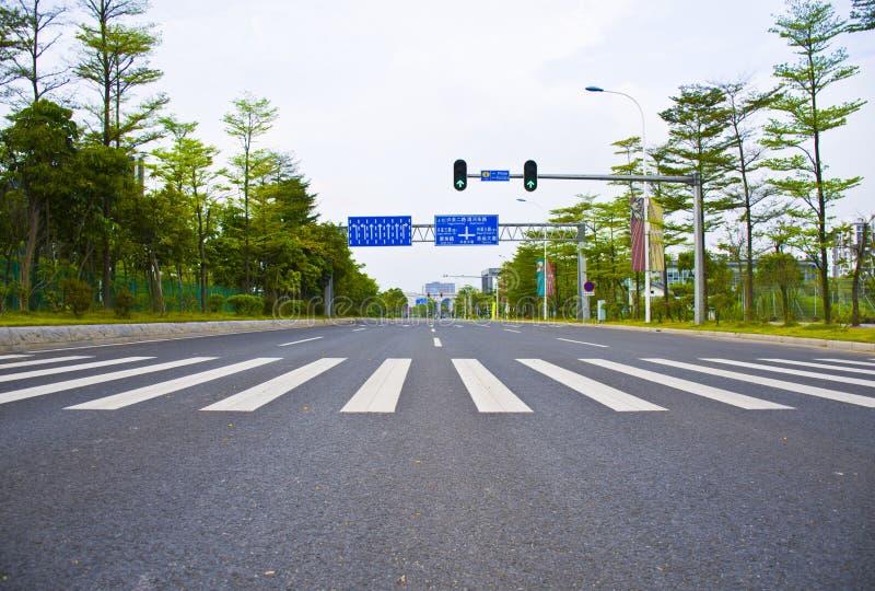 Zebra traffic walk way sign in guangzhou. Zebra traffic walk way sign as sky royalty free stock photography